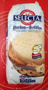 Just add water to make tortillas with this mix. Not nearly as good as homemade, however.