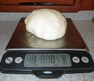 A one pound lump of mozzarella from this recipe.