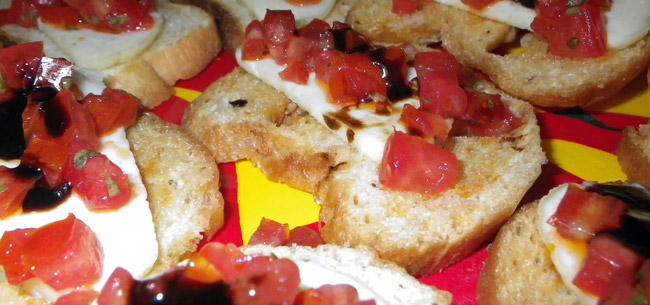 Crostini With Fresh Mozzarella